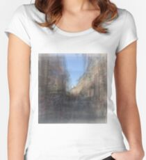 Rue St. Paul E Montreal streetscape Women's Fitted Scoop T-Shirt