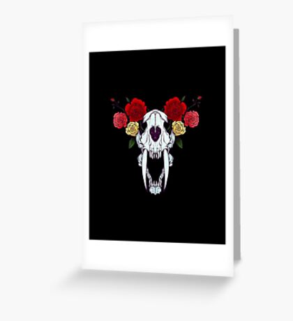 Sabre tooth Greeting Card