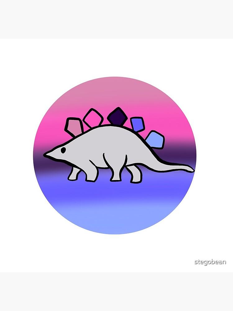 Omnisexual pride stegosaurus design by stegobean