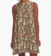 Mushroom Fairy Houses A-Line Dress