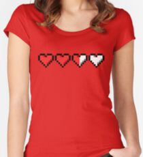 Two and a Half Hearts Remaining Women's Fitted Scoop T-Shirt