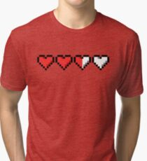 Two and a Half Hearts Remaining Tri-blend T-Shirt