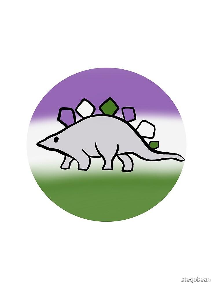 Genderqueer pride stegosaurus design by stegobean