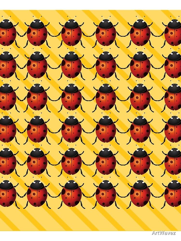 Ladybirds with Yellow Stripes Pattern by ArtWavez