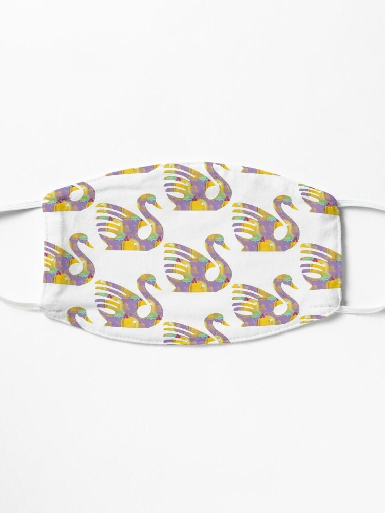 Alternate view of Swan Bird Funny (75) Mask