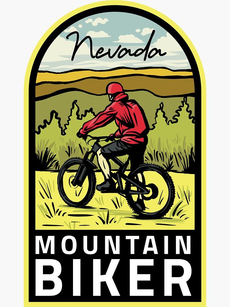 Nevada Mountain Biker by HalpinDesign