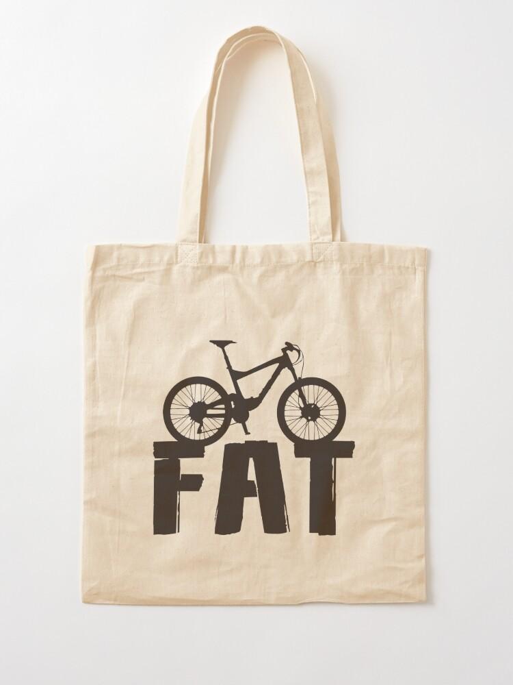 Alternate view of Fat Bike Fat Mountain Bike Biker Biking Love Ride Tote Bag