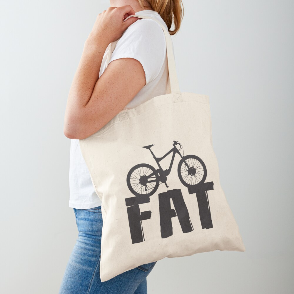 Fat Bike Fat Mountain Bike Biker Biking Love Ride Tote Bag