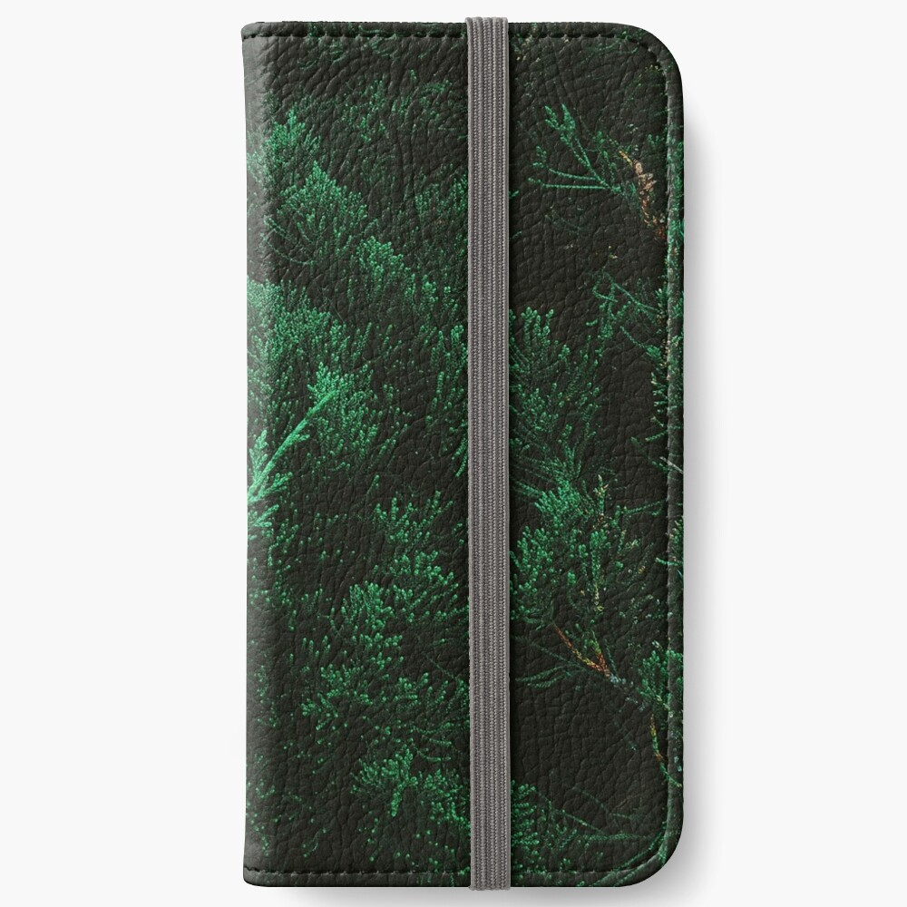 Pine trees iPhone Wallet