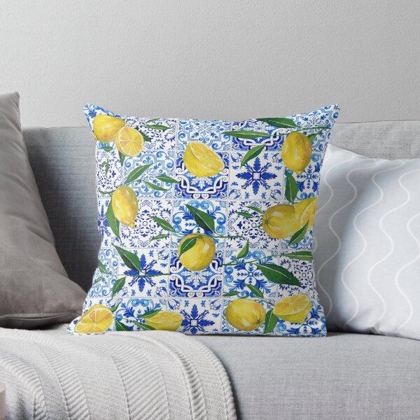 Mediterranean Lifestyle - Lemons Throw Pillow