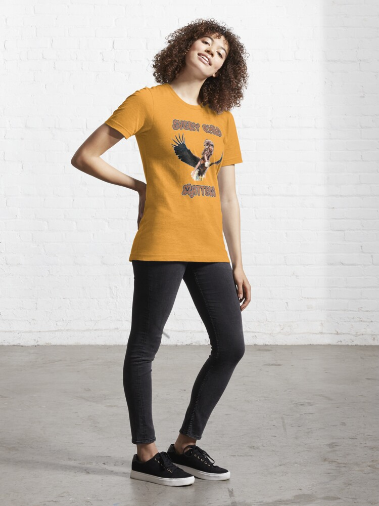 Alternate view of Every child matters. Child riding a bald eagle. Orange shirt day Essential T-Shirt