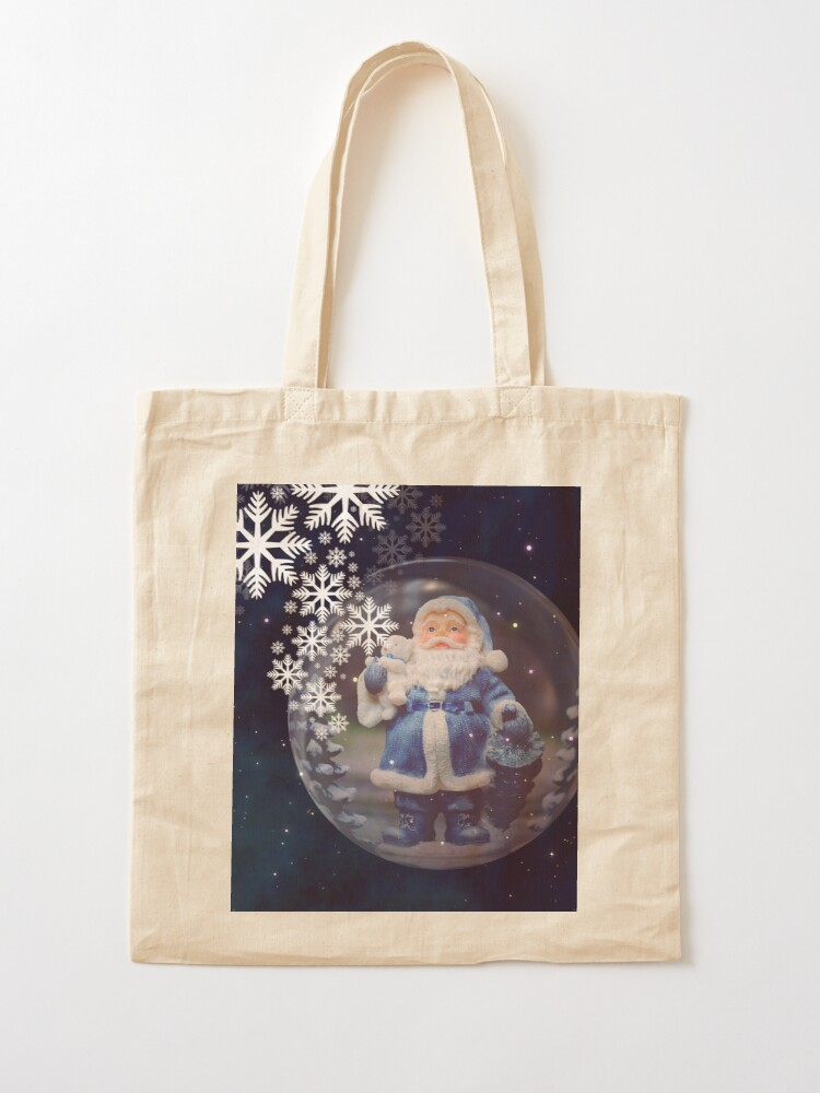 Alternate view of Santa Claus in a bubble Tote Bag