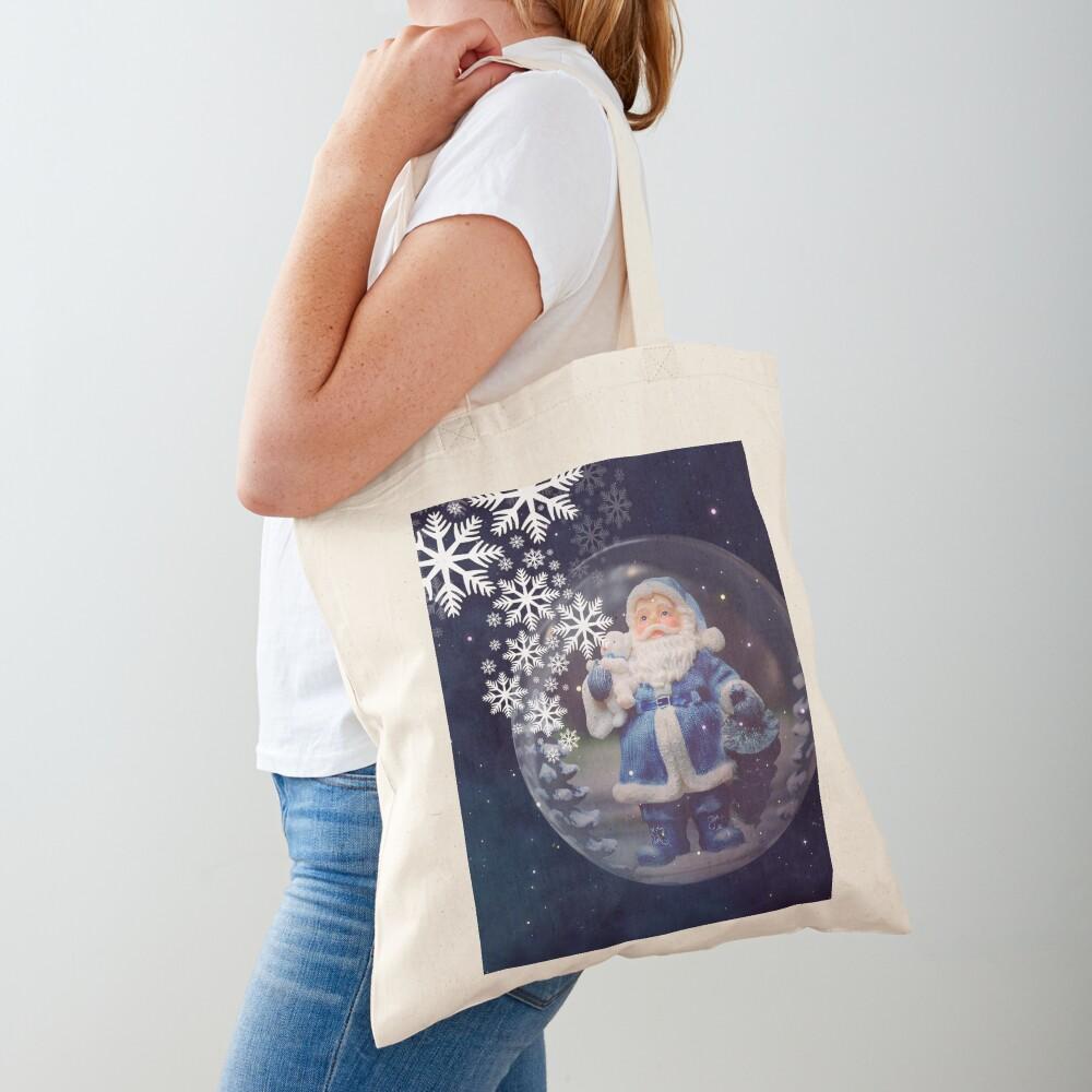 Santa Claus in a bubble Tote Bag