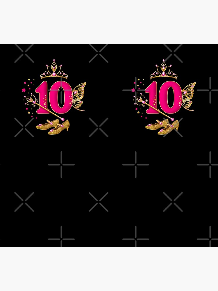 10th Birthday design. Birthday princess is 10 years old girl's by iclipart
