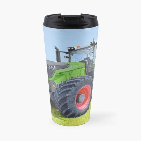 Green Tractor in Field Travel Mug