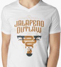 Jalapeno Outlaw SNAKE Men's V-Neck T-Shirt