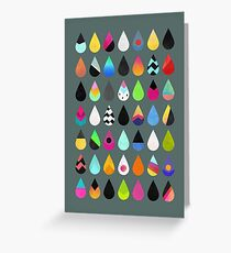 Colorful Rain Greeting Card