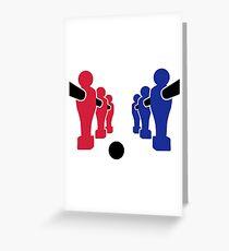 Foosball team Greeting Card