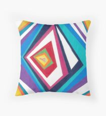 Kaleidoscope Pizza Throw Pillow