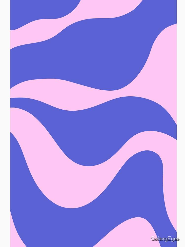 Wavy Land - Pink And Blue by GalaxyEyes