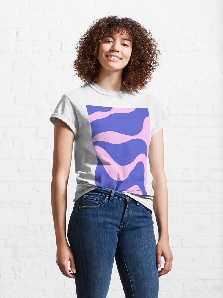 Alternate view of Wavy Land - Pink And Blue Classic T-Shirt