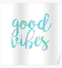 good vibes trendy free spirit laptop sticker Poster