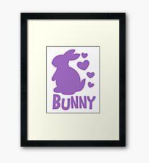 Bunny in purple Framed Print