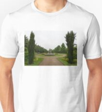 Peaceful Gray Symmetry - a Rainy Day in Regents Park, London T-Shirt