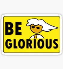 Be Glorious Steam PC Master Race Geek Sticker