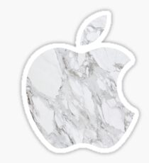 Marble Apple Logo Sticker