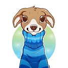 Sweater Weather Pup - Blue by etuix