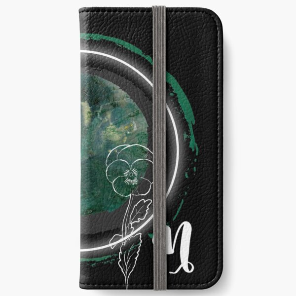 Moss Agate Moon In Capricorn iPhone Wallet