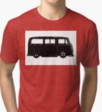 VW Bay window Bus in Black Tri-blend T-Shirt
