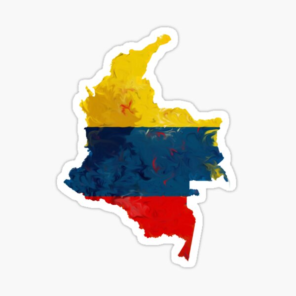 Colombia Paint Blur  Sticker