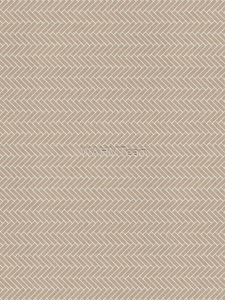 Brown and Cream White Chevron Zig Zag Pattern by WAHMTeam