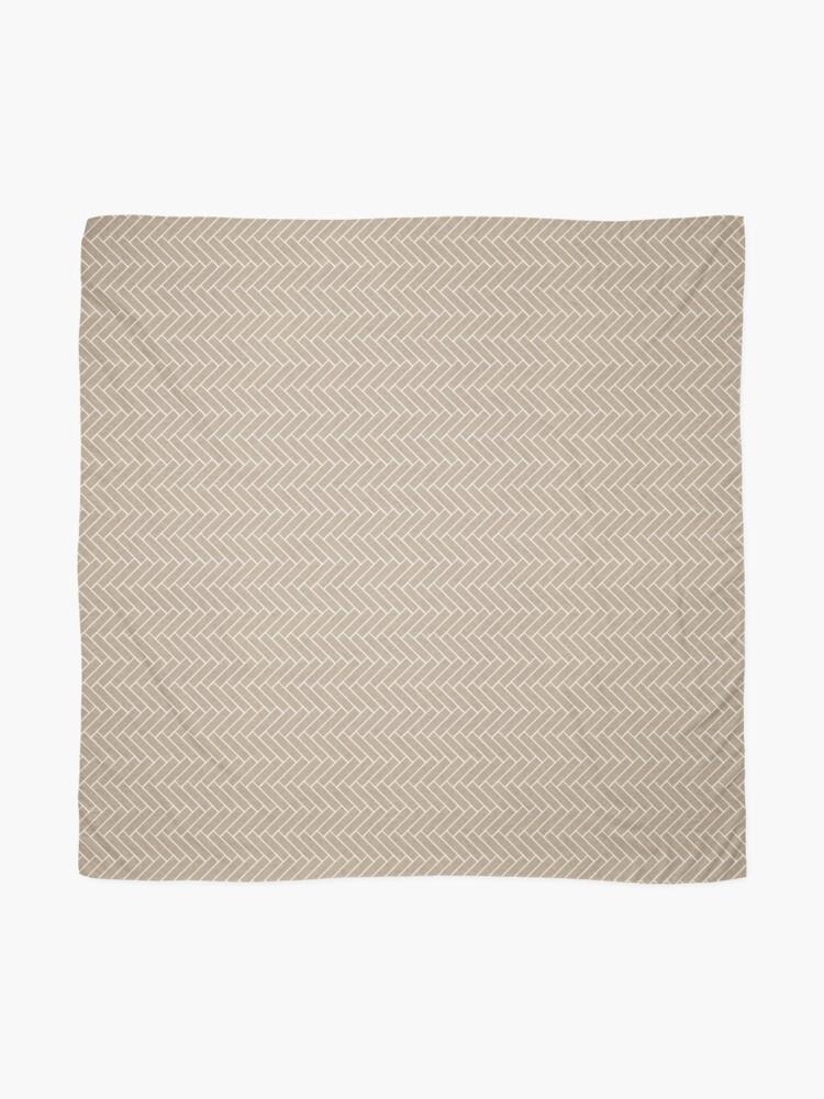 Alternate view of Brown and Cream White Chevron Zig Zag Pattern Scarf