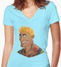 HE-MAN & the Rappers of the Universe Women's Fitted V-Neck T-Shirt