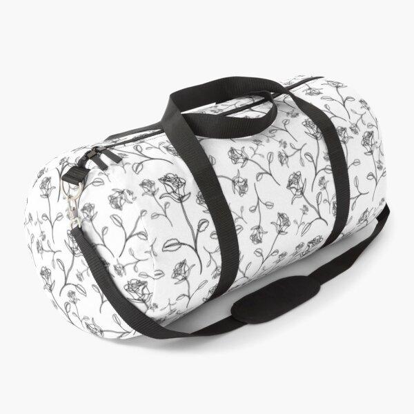 Line drawing rose Duffle Bag