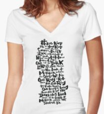 One Ring  Women's Fitted V-Neck T-Shirt