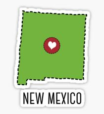 New Mexico State Heart Sticker