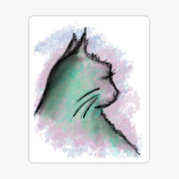 Colorful Cat Sticker