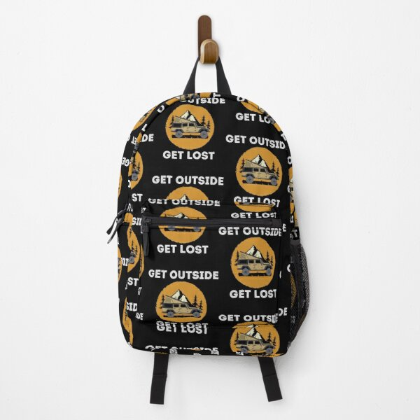 Get Outside Overland Off-road Camping Overlanding graphic Backpack