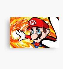 Mario | Fireball Canvas Print