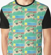 Waggles (with background) Graphic T-Shirt