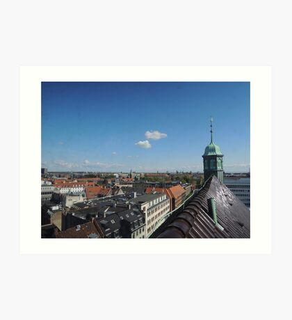Rooftop seat: Copenhagen Art Print