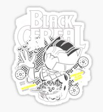 Black Cereal Sticker