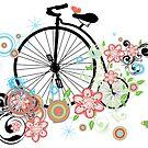 Fahrrad und Blumenverzierung 2 von AnnArtshock