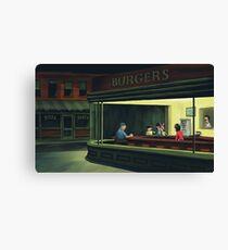 Bobs Burgers Nighthawks Canvas Print