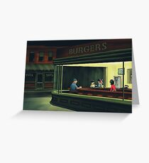 Bobs Burgers Nighthawks Greeting Card