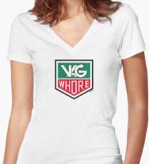VAG Whore Women's Fitted V-Neck T-Shirt
